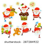 collection of funny cartoon... | Shutterstock .eps vector #287284922