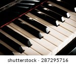 old vintage piano keys as music ... | Shutterstock . vector #287295716