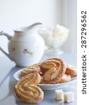 golden cookies from salt dough...   Shutterstock . vector #287296562