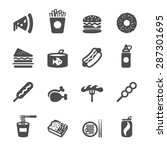 fast food icon set  vector... | Shutterstock .eps vector #287301695