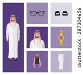 people icon in flat style  with ... | Shutterstock .eps vector #287304656