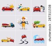 car and transportation... | Shutterstock .eps vector #287311538