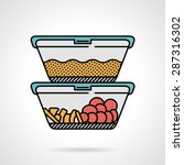 vector flat design colored icon ... | Shutterstock .eps vector #287316302