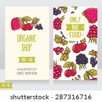 two cards with summer fresh... | Shutterstock .eps vector #287316716