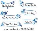 vector set  calligraphic design ... | Shutterstock .eps vector #287326505