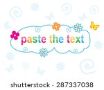 frame   cloud with flowers and... | Shutterstock .eps vector #287337038