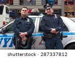 new york city   may 2015  nypd... | Shutterstock . vector #287337812