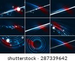 abstract color glowing lines in ...
