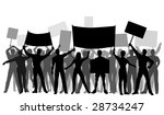 editable vector silhouettes of... | Shutterstock .eps vector #28734247
