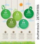 green ecology infographics... | Shutterstock .eps vector #287344586