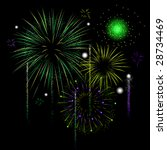 grand finale for a fireworks... | Shutterstock .eps vector #28734469