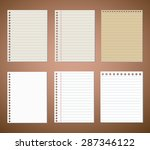 set of line paper and note... | Shutterstock .eps vector #287346122