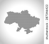 map of ukraine | Shutterstock .eps vector #287346422