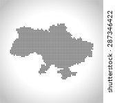map of ukraine | Shutterstock .eps vector #287346422
