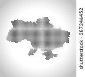 map of ukraine | Shutterstock .eps vector #287346452