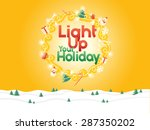christmas theme elements  ... | Shutterstock .eps vector #287350202