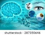 human brain and eye in an...   Shutterstock . vector #287350646