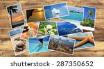 collection of tropical images... | Shutterstock . vector #287350652