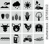 agriculture icons  vector... | Shutterstock .eps vector #287353112