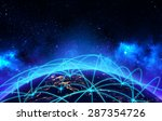 global network connection and... | Shutterstock . vector #287354726