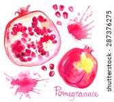 Pomegranate Painted With...
