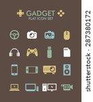 vector flat icon set   gadget  | Shutterstock .eps vector #287380172
