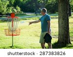 Man Playing Frisbee Golf