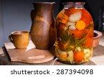 Jar Of Pickled Vegetable...