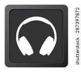 headphones   vector icon  on a... | Shutterstock .eps vector #287397872