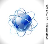 modern global networks isolate...   Shutterstock .eps vector #287405126