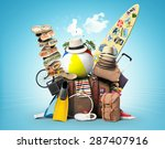 vacation and travel  a huge... | Shutterstock . vector #287407916
