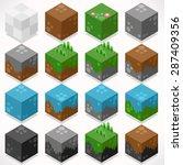 3d Flat Isometric Cubes Starte...