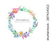 blossom briar. vector background | Shutterstock .eps vector #287414312