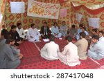 Small photo of QUETTA, PAKISTAN - JUN 15: Students of Bolan Medical College (BMC) are protesting against college administration at a hunger strike camp on June 15, 2015 in Quetta.