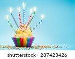 celebration cupcake | Shutterstock . vector #287423426