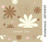 retro flowers  background is... | Shutterstock .eps vector #28742419