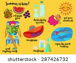 illustrated cartoon style... | Shutterstock .eps vector #287426732