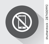 no phone sign icon  vector...