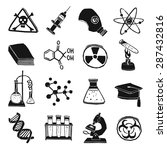 black and white laboratory... | Shutterstock .eps vector #287432816