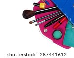 fashion concept. colorful make... | Shutterstock . vector #287441612