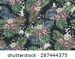 gentle vintage pattern on a... | Shutterstock . vector #287444375