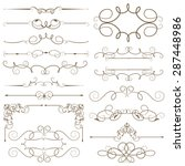 antique decorative elements ... | Shutterstock .eps vector #287448986