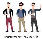 casual young men character ... | Shutterstock .eps vector #287450045