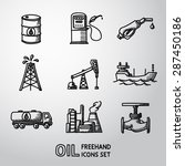 set of handdrawn oil icons  ... | Shutterstock .eps vector #287450186