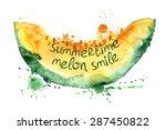 watercolor hand drawn... | Shutterstock .eps vector #287450822