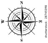 vector   black compass rose ... | Shutterstock .eps vector #28745398