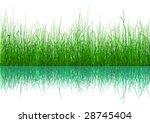 vector   green grass with... | Shutterstock .eps vector #28745404