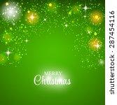 christmas glossy star... | Shutterstock . vector #287454116