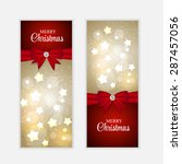 christmas website banner and... | Shutterstock . vector #287457056