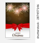 christmas snowflakes website... | Shutterstock . vector #287457146